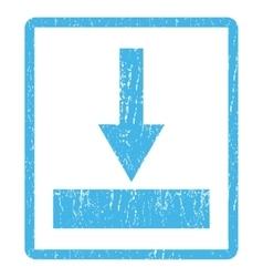 Move bottom icon rubber stamp vector
