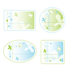 Teddy Bear Sticker Labels vector image vector image
