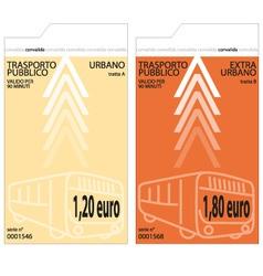 bus tickets vector image