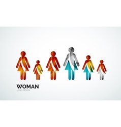 Color abstract logo woman icon vector image