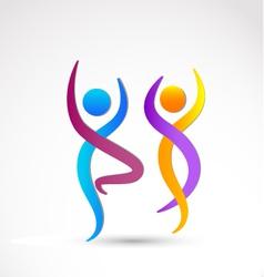 Couple dancing logo vector image vector image