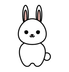cute and tender rabbit kawaii style vector image vector image