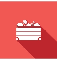 Treasure chest icon vector image