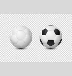 3d realistic classic white and black blank vector image