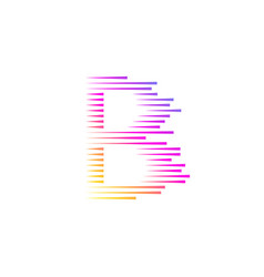 Abstract letter b logofast speed moving vector