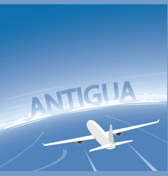 Antigua flight destination vector