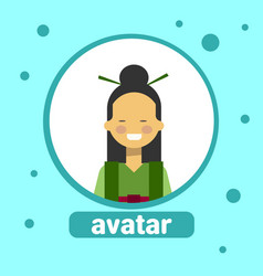 Asian woman avatar icon chinese female vector