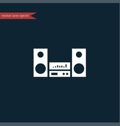 Audio sistem icon simple vector