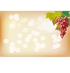 Autumn grapes postcard vector image