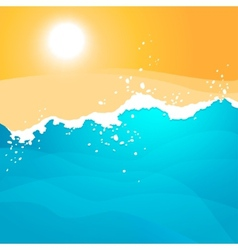 Background with Sea Waves vector image