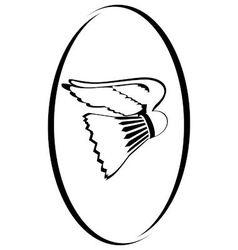 Badminton 1 vector image