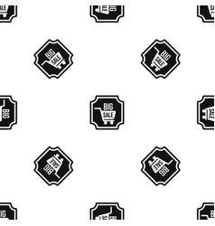 Big sale sticker pattern seamless black vector