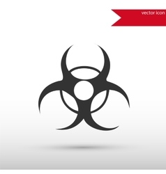 Biohazard Icon Danger concept vector image