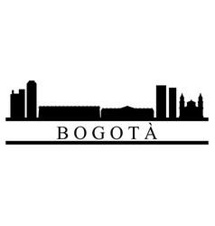 bogota skyline vector image
