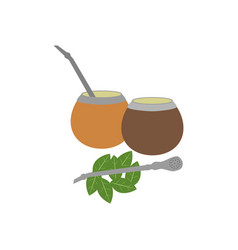 Calabash mate drink vector