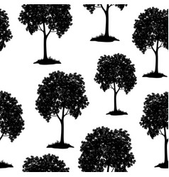 Chestnut trees seamless vector