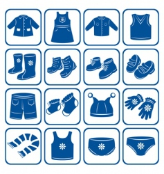 child clothes set vector image