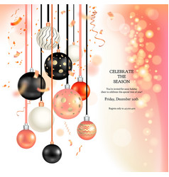 Christmas holiday balls vector