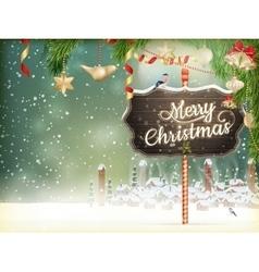 Christmas scene village EPS 10 vector
