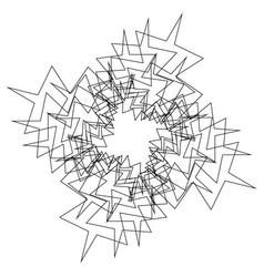 Circular radial abstract element on white vector