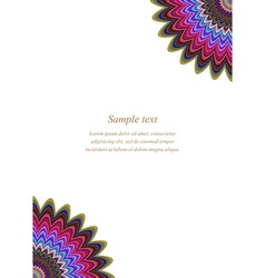 Color floral page corner design template vector image