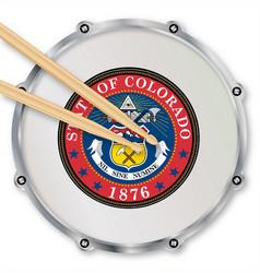 Colorado snare drum vector