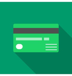 Colorful credit card icon in modern flat style vector