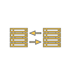 computer server network linear icon vector image