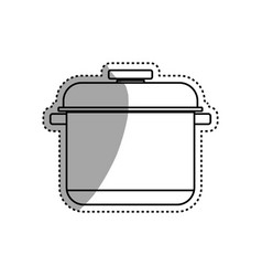 Cooking pot casserole vector
