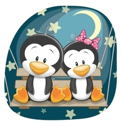 Cute Lovers Penguins vector image