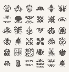 decorative elements elements set vector image