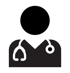 Doctor physician nurse medical healthcare icon vector