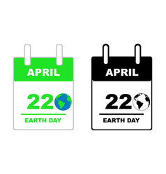 earth day calendar vector image