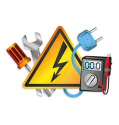 Electricity tools set vector