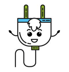 Energy plug kawaii character vector