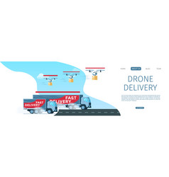 express storage delivery truck driving the road vector image