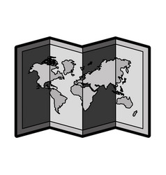 flat world map cartoon vector image