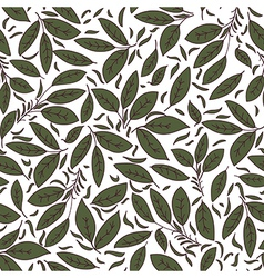 floral texture with green leaves vector image