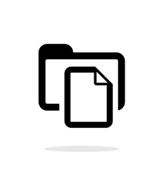 Folder with files icon on white background vector image