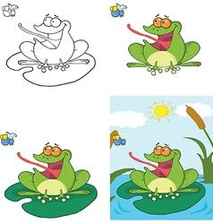 Frog cartoons vector