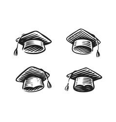 graduation hat cap symbol education school vector image