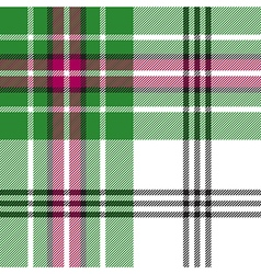 Green white tartan plaid seamless pattern vector