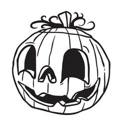 Halloween pumpkin black vector