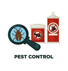 harmful insects extermination devices and means vector image