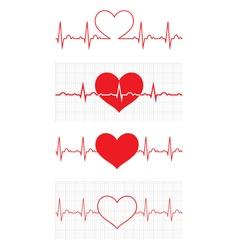 Heart beat Cardiogram Cardiac cycle Medical icon vector image