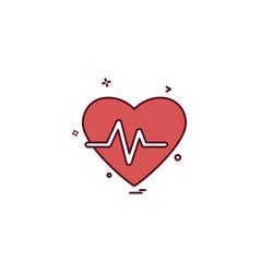 heart beat icon design vector image