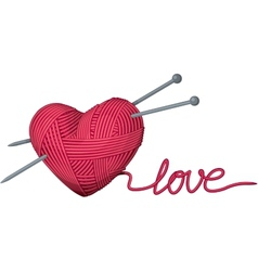 Heart of yarn vector image