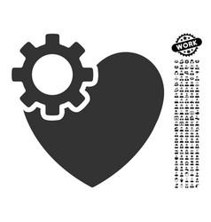 Heart surgery icon with work bonus vector