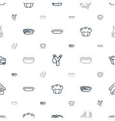 Homemade icons pattern seamless white background vector