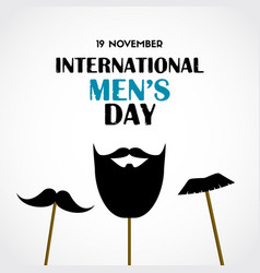 international mens day greeting card vector image